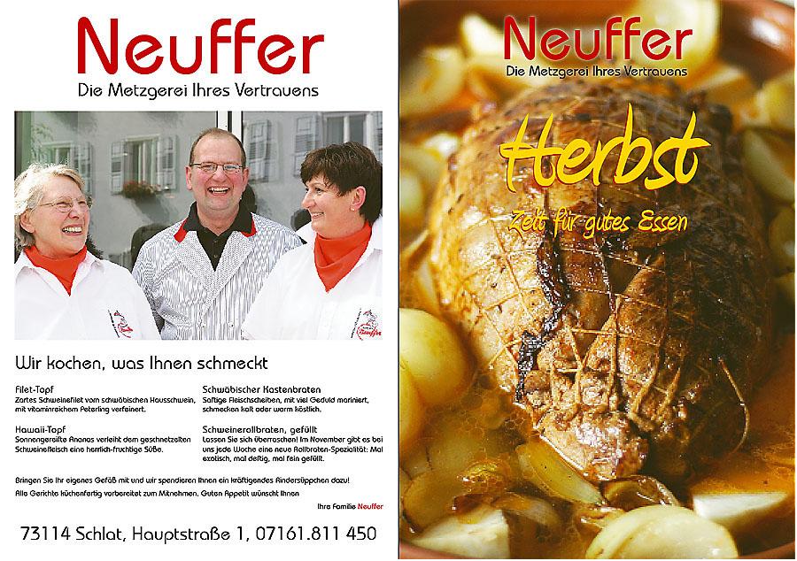 Herbst. Die Tage werden l�nger, die Menschen bekommen wieder Lust auf warmes, kr�ftiges Essen. Das lokale Fleischerfachgesch�ft ist der optimale Anbieter daf�r.