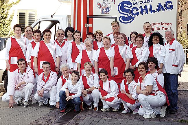 Teamfoto der Metzgerei Schlag in Stuttgart