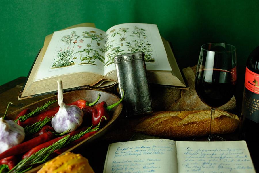 Weinserie als Vorlage für Ölgemälde, fotografiert nach eigenem Konzept.